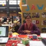Griet op de stand van Go-Strange Beurs 2015 in Antwerpen